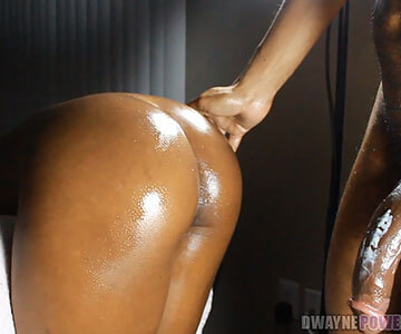 hard and deep pounding of ebony model