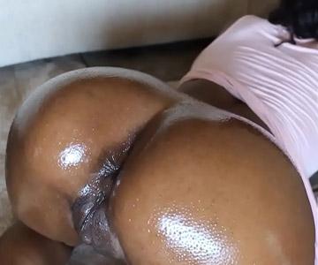 rubbing her black ass