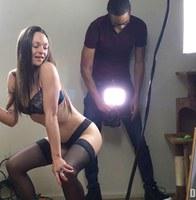 Behind The Scenes of Olivia Roommate Stripper 1