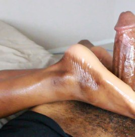 Dwayne Powers Mocha Footjob - Squeezing Him After Cumshot 1